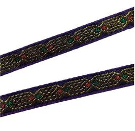 Etno-Ornament-Borte, lila, 13 mm, 1 Meter