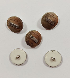 2 Stück, Landhaus Knopf, Herrenknopf, 22 mm, 30 mm, beige