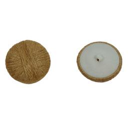 2 Stück, Knöpfe aus Natur Sisalseil, Farbe natur, 40 mm