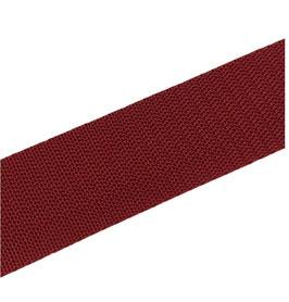 Gurtband, starker Zug, bordorot, 40 und 30 mm breit, 1 Meter