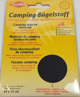Camping- Bügelstoff aus Original-Zeltstoff, 34 x 12 cm, Farbe anthrazit
