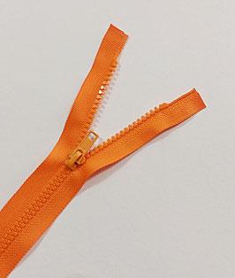 Restposten, Kunststoff  Reißverschluss, teilbar, Überlänge, 60 cm, neon orange