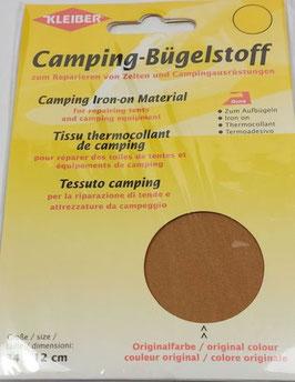 Camping- Bügelstoff aus Original-Zeltstoff, 34 x 12 cm, Farbe sand dunkel