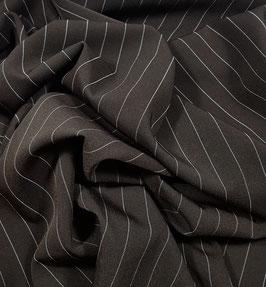 Reduziert, Nadelstreifen, dunkel braun, 50 cm