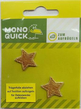 Sticker - Patches, kleine goldene Sterne zum Aufbügeln oder Kleben, 2-er Set, 15 x 15 mm