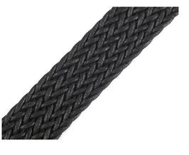 Hochwertiges geflochtenes Gurtband, starker Zug, schwarz, 30 mm breit, 1 Meter