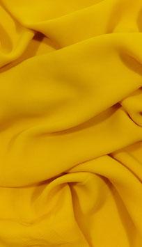 Reduziert, Blusen Stoff, Viskosekrepp, gelb, 50 cm