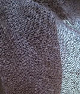 Leinen, transparent, beere, 50 cm