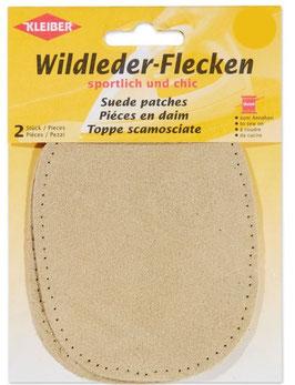 Wildleder-Flecken, Oval, beige hell
