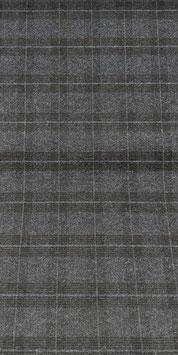Reduziert, Baumwollflanell, Karo, grau-schwarz meliert, 50 cm