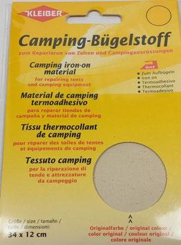 Camping- Bügelstoff aus Original-Zeltstoff, 34 x 12 cm, Farbe rohweiss