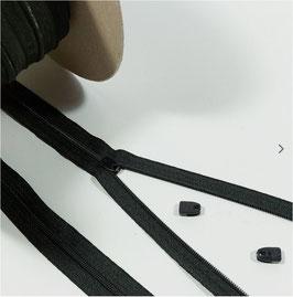 YKK Reißverschluss für Bettdecke, Bettwäsche Schieber, 135cm, 150cm, 200cm, 220cm, schwarz
