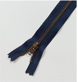 YKK Jeans-Metallreißverschluss, verschiedene Länge, Farbe marineblau Nr.058, 1 Stück