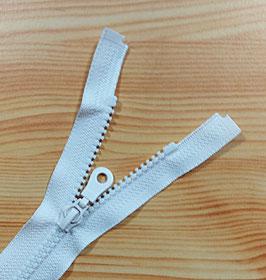 Kunststoff Reißverschluss, teilbar, 1 Stück, 50 cm, gebrochenes weiß