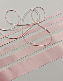 Satinband Luxe, 100% Polyester, mehrere Breiten, hellrosa 04, 1 Meter