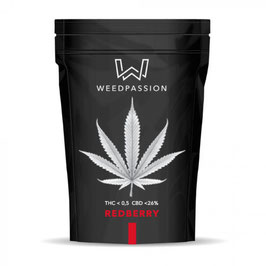 WeedPassion RED BERRY 26%cbd - 0,5%thc INDOOR