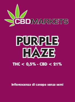 CBDMARKETS PURPLE HAZE 1 GR. 21%CBD 0.5%THC