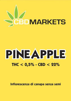 CBDMARKETS PINEAPPLE 22%cbd 0,5%thc indoor
