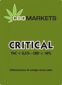 CBDMARKETS CRITICAL 1g. 18% cbd 0.5% thc