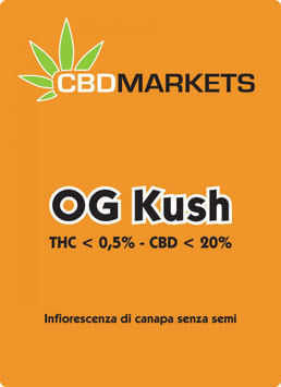 CBDMARKETS OG KUSH 1g. 20% cbd 0.5% thc