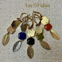 Boucles hexagone (clips possibles)