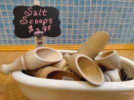 Old Fashioned Wooden Salt Scoop