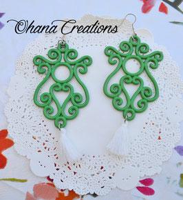 Chandelier verde con nappina