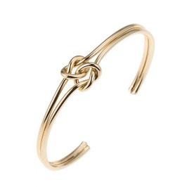 Bracciale doppio nodo oro