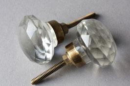 "1 eleganter Griff aus Glas ""Kugel"" / drawer knob glass"