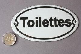 Toilettes WC Emaille Schild Vintage - door sign enamel