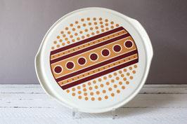 Herbolzheim Punkte Tortenplatte Vintage   Cake Plate Dots German 60s 70s Stoneware