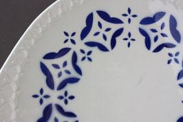 GDR Art Déco Spritzdecor Tortenplatte Antik / cake plate Vintage 60s 70s