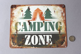 """Camping Zone"" Hinweisschild / door sign"