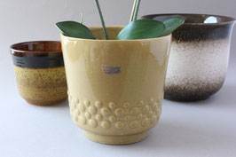 Übertopf aus Keramik beige Vintage 60er 70er / West German Pottery flowerpot