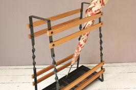 Eckiger Schirmständer Holz Midcentury | umbrella stand holder 50s, 60s