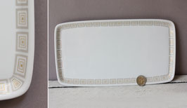 Königskuchenplatte Stollenplatte Krautheim Bavaria Vintage / cake plate gold grey