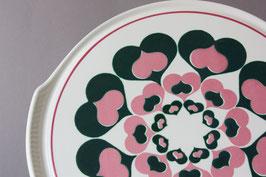 Herbolzheim Herzen Tortenplatte Vintage | cake plate hearts German stoneware