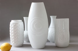 31 cm / XL AK Kaiser Vase weiß Vintage / white 60s 70s vase Germany
