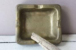 Brutalist Bronze Aschenbecher eckig / ashtray rectangular Vintage