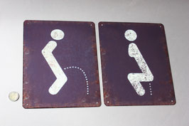 1 Toiletten Schild Mann Frau stilistisch / Toilet door sign ladies gentlemen modern door sign graphic