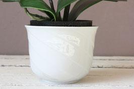 Kleiner, weißer Blumentopf Keramik Vintage | small flowerpot white