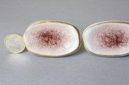 1 großer ovaler Schubladengriff Craquelee braun gold