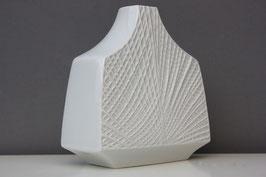 """Krautheim """"Saturn"""" Op-Art Biskuit Vase weiß / white Vintage bisque vase modernist 60s 70s"""