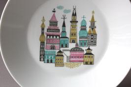 Melitta Suppenteller mit Häuser Motiv   Vintage Soup Plate House Pattern