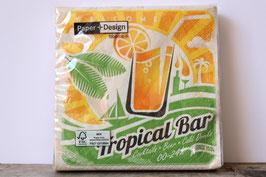 Kleine Servietten 25 cm x 25 cm Tropical Bar / small cocktail napkins / Paper + Design