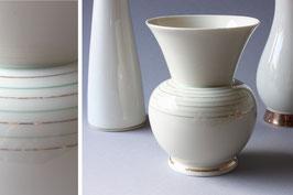 VEB Porzellan Vase Streifen Vintage elfenbein Retro East Germany