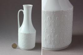 Royal Porzellan Bavaria KPM | weiße Op-Art Vase | Vintage porcelain vase | white flower vase 60s, 70s | made in Germany