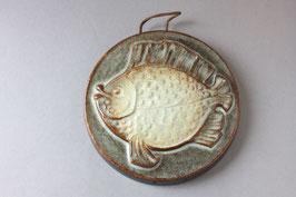 Vintage Fisch Wandteller aus Keramik / fish wall plaque ceramic