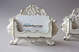 Visitenkartenhalter romantisch creme / business card holder cream romantic