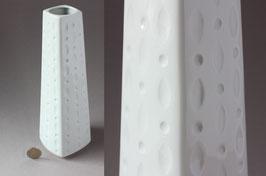 Winterling Op-Art Vase weiß   Vintage porcelain vase   white flower vase 60s, 70s   made in Germany